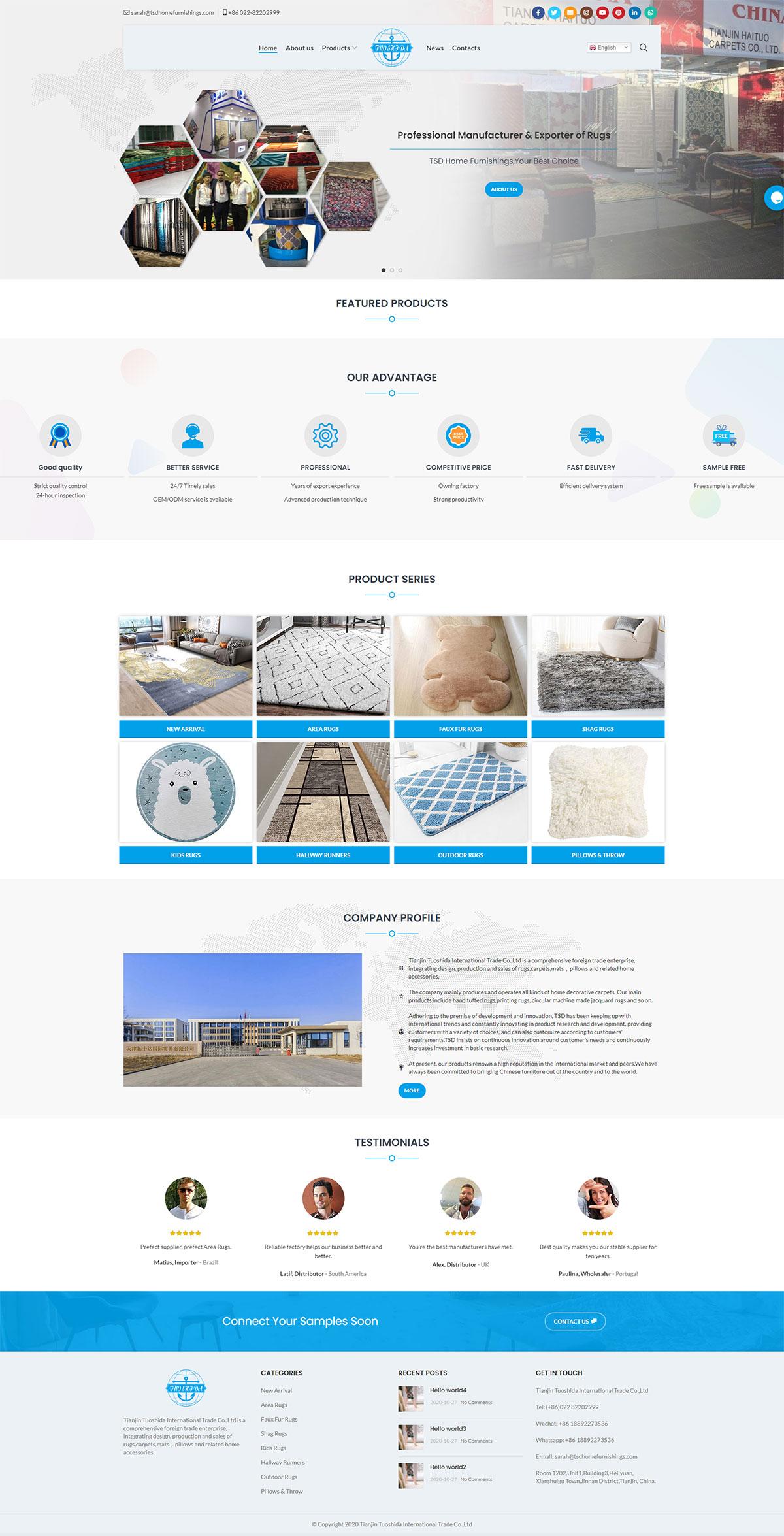 外贸地毯网站案例
