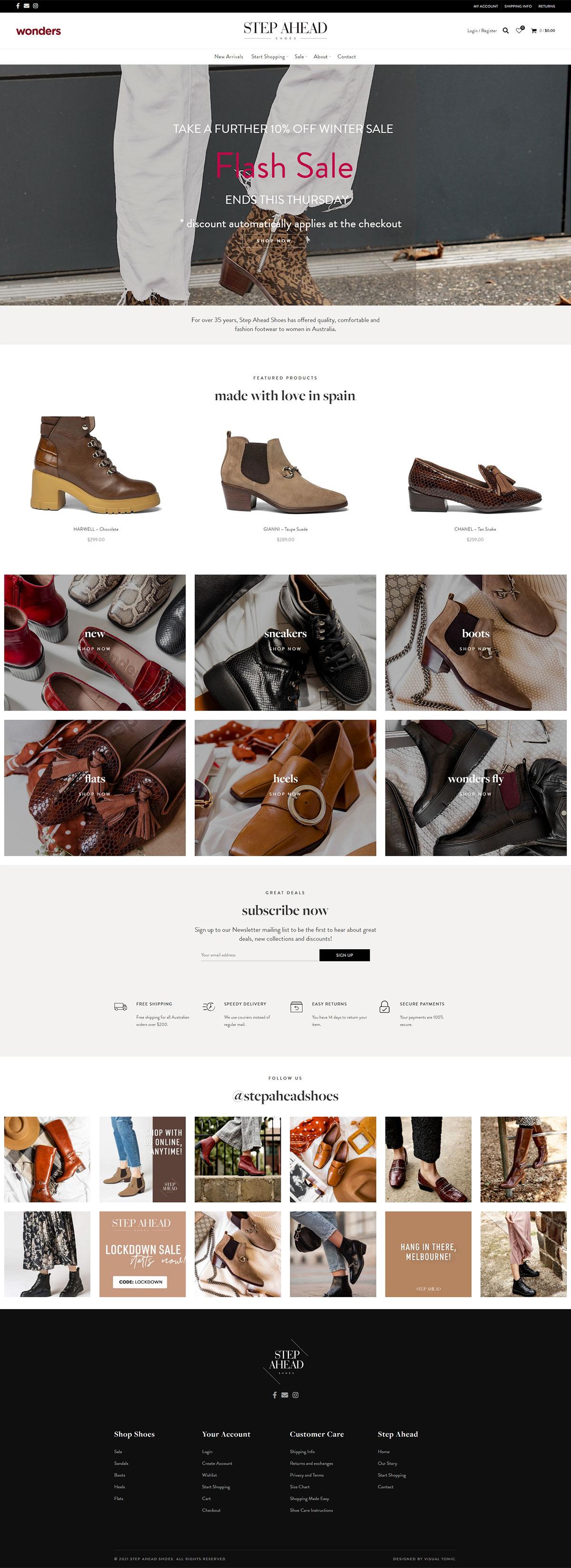 外贸独立站案例-女鞋